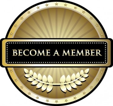 Gold icon with the words become a member.